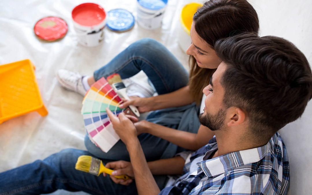 Painting is a great project for winter home improvement
